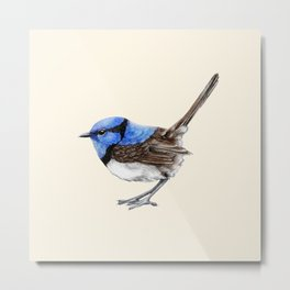 Little Wren, Natural Metal Print