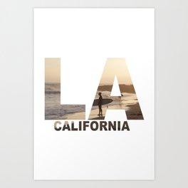 California Surfer Art Print
