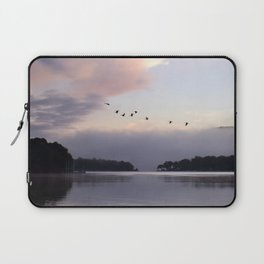 Uplifting III: Geese Rise at Dawn on Lake George Laptop Sleeve