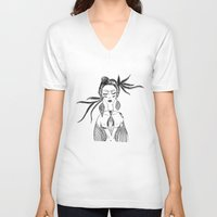 native V-neck T-shirts featuring NATIVE  by Adriana Mateus