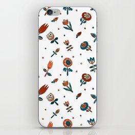 Pattern in Nordic Floral Style #2 iPhone Skin