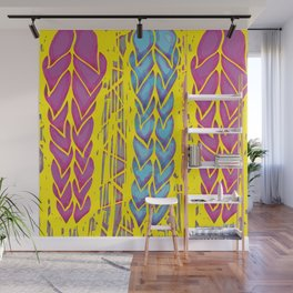 High contrast leaves Wall Mural