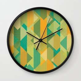 Grids, Lines, Squares Wall Clock