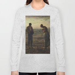The Angelus by Jean Francois Millet Long Sleeve T-shirt