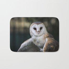Common Barn Owl portrait. Bath Mat