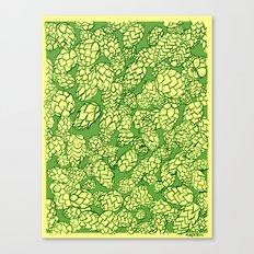 Floral Hops Canvas Print