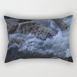 Crisp water hitting the rocks. Rectangular Pillow