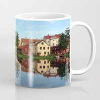 swedish Mugs featuring Swedish Old Town by Indie Oasis