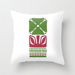Nordic Green Flower Throw Pillow
