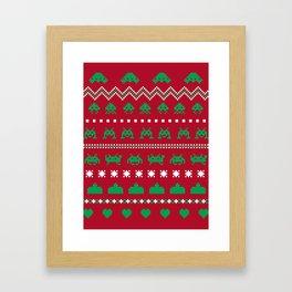 xmas invaderz Framed Art Print