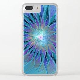 Decorative Flower Fractal Clear iPhone Case