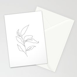 Plant one line drawing - Heidi Stationery Cards