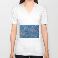 life aquatic V-neck T-shirts featuring Aquatic by Victoria Bladen