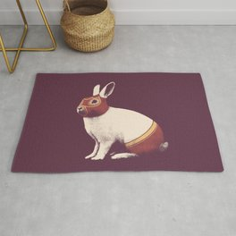 Lapin Catcheur (Rabbit Wrestler) Rug