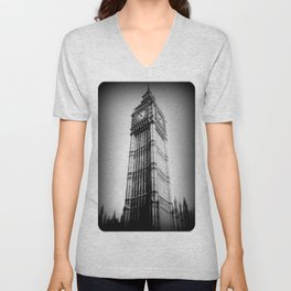 Ben looms in black and white, too. Unisex V-Neck