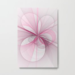 The Birth of Pink, Abstract Fractal Art Metal Print