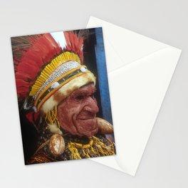 Papua New Guinea Elder Chief Breathtaking Fine Art Photo Stationery Cards