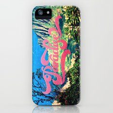 Pink Teal Retro Paradise Vintage Style Photography iPhone (5, 5s) Slim Case