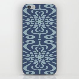 Light Blue On Dark Blue Boho Design iPhone Skin