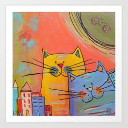 City cats Art Print