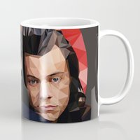 larry stylinson Mugs featuring Polygonal Larry by Peek At My Dreams