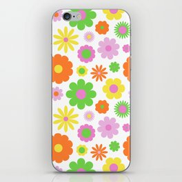 Vintage Daisy Crazy Floral iPhone Skin