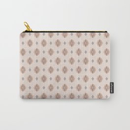 Boho Baby // Middle Eastern Metallic // Cypress Trees + Diamonds on Blush // Geometric Floral Carry-All Pouch
