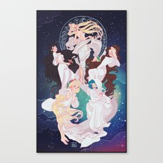 Sailor Mucha Canvas Print