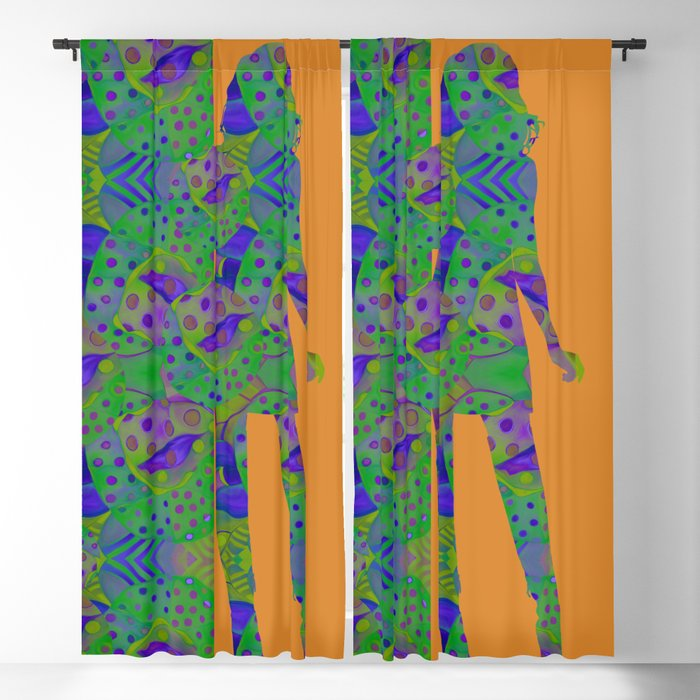 """""""Be yourself (Pop Fantasy Colorful Woman)"""" Blackout Curtain"""