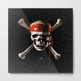 Cool Skull Of Pirates Metal Print
