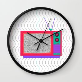 Television Noise Wall Clock