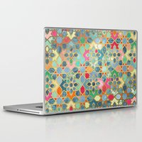 moroccan Laptop & iPad Skins featuring Gilt & Glory - Colorful Moroccan Mosaic by micklyn