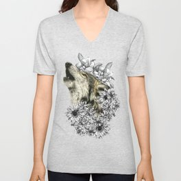 exclusive wolf Unisex V-Neck