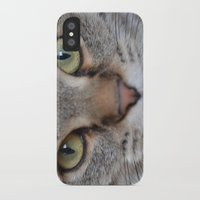 arya iPhone & iPod Cases featuring Cat by Kellie Eickstead