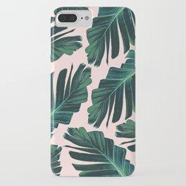 Tropical Blush Banana Leaves Dream #1 #decor #art #society6 iPhone Case