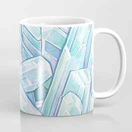 Blue Green Crystal Cave Coffee Mug