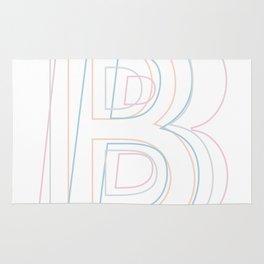 Intertwined Strength and Elegance of the Letter B Rug
