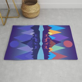 Deer in the Mountains Rug