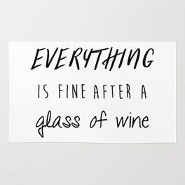 Fine with Wine Rug