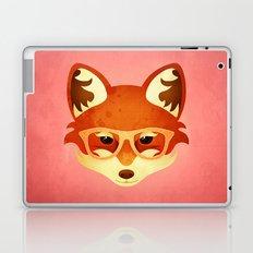 Hipster Fox: Rose Laptop & iPad Skin