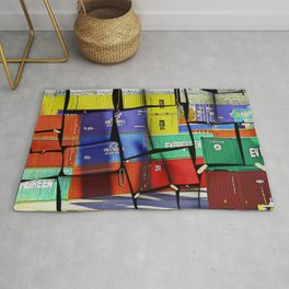 Colorful container wall board Rug