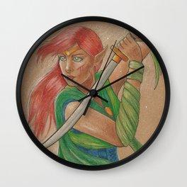 Elven Warrior Wall Clock