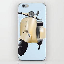 Three Vespa scooters in the colors of the Italian flag iPhone Skin