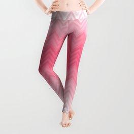 Fading Pink Chevron Leggings