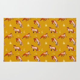 Stay Gold Foxy Pattern Rug