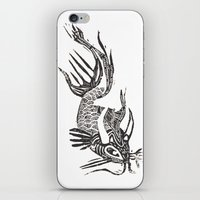 data iPhone & iPod Skins featuring Data Fish by Samantha Witherford