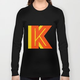 Letter K Long Sleeve T-shirt
