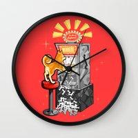 shiba Wall Clocks featuring Shiba Slots by  terrorbunnystudios