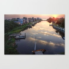 Sunset from Buccaneer Drive Canvas Print