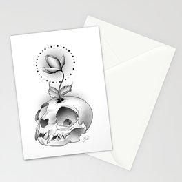 Skull Flower Stationery Cards